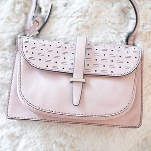 BRAND NEW soft pink crossbody bag/purse - FOSSIL